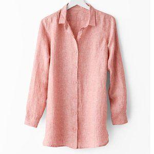 Garnet hill easy 100% linen tunic shirt size petite small